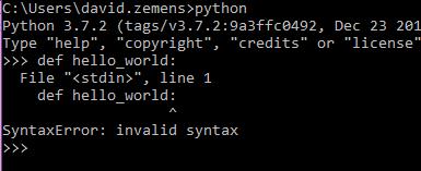 python SyntaxError